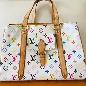 louis vuitton aurelia mm multicolor white